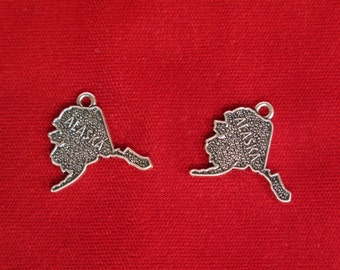 "BULK! 15pc ""Alaska"" charms in antique silver (BC83B)"