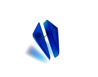 Big Navy Blue Triangles