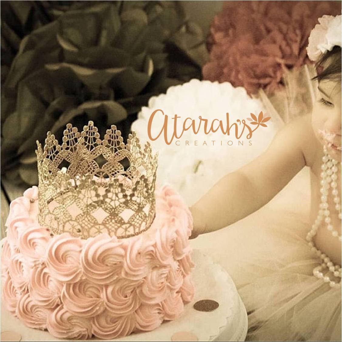 Gold crown Cake topper / Crown Cake Topper / Cake Topper Photo