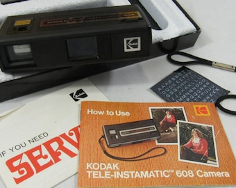 Vintage Kodak Tele-Instamatic 608 Camera in Original Box