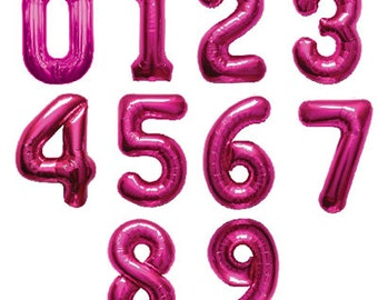 Number Balloons | Giant 34 Inch Hot Pink