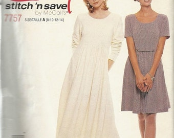 Sale McCalls 7757   Misses Dress in two lengths     Size 8,10,12,14  (cut to size 8)