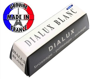 Dialux White Blanc Polishing Compound Polish for Whie Gold & Silver, Platinum Jewelry Metals.MAde in France WA 417-006