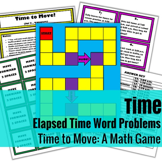 Time to Move: A Math Game for Practicing Elapsed Time
