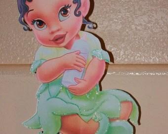 Princess Tiana baby shower centerpiece, baby girl centerpiece shower, royal baby shower ,events, partys