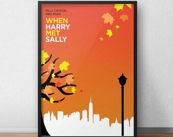 8.5x11 Digital Print / When Harry Met Sally / Minimalist Movie Poster Art