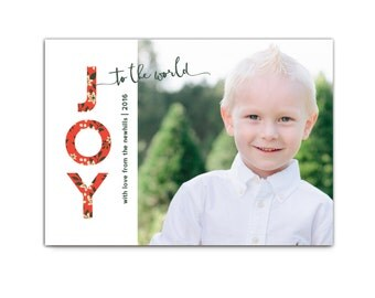 Christmas Card // Modern Holiday Cards // Christmas Cards // Joy to the World card // Printable Photo Holiday Card // The Newhills