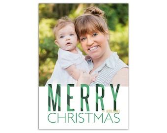 Christmas Card With Photo // Printable Photo Holiday Card // Christmas Photo Card