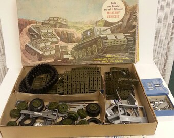 Free Shipping!! Erector Constructor 5 in 1 Military Vehicles Set No 10611