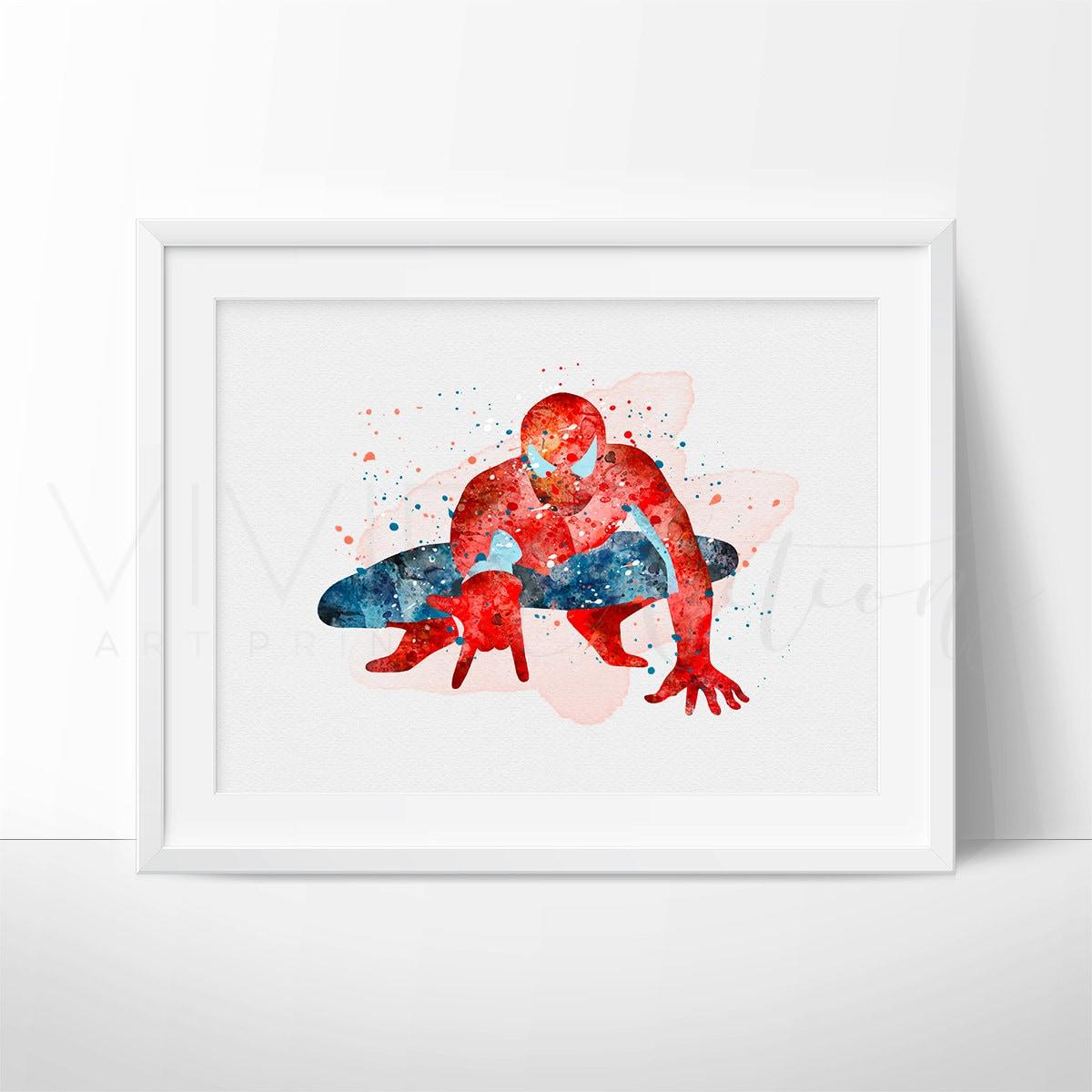 Spiderman Superhero Nursery Art Print Wall Decor Kids Bedroom