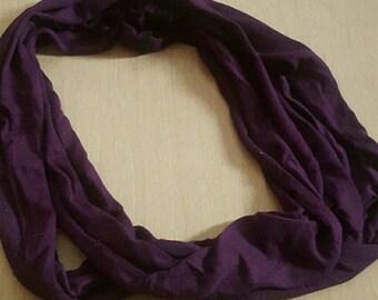 Purple Jersey Infinity Scarf