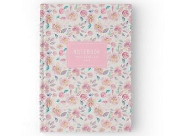 Floral Pattern Journal, Bullet Journal Notebook, Planner 2017