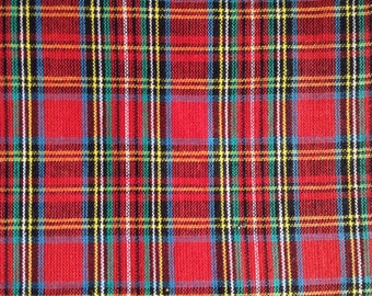 One Half Yard Fabric Material - Woven Tartan Plaid