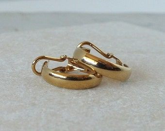 Small Gold Tone Hoops for a Classic Look
