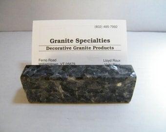 Business Card Holder, DeskCard Holder,Office Card Holder,Granite Card Holder Personalize Granite Business Card Holder