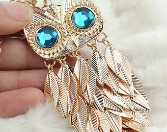 Owl Sweater Necklace