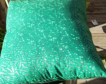 GREEN Pillow with SPARKLE!