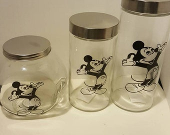 3pc Mickey Canister set