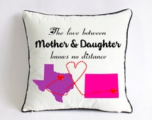 long distance mother daughter pillowcase-mother day party decor-mothers day present from baby-love between mother daughter knows no distance