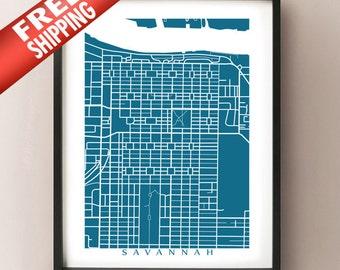 Savannah Map Print