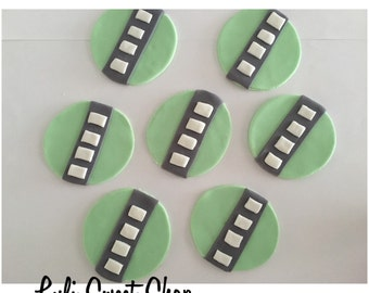 12 Fondant cars road for cupcake toppers