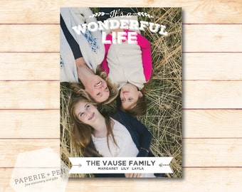 It's a Wonderful Life  // Holiday Photo Card