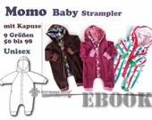 Momo *** Strampelanzug Strampler Body eBook PDF-Datei Nähanleitung mit Schnittmuster in 9 Größen 50-98 with Love by firstloungeberlin Babys