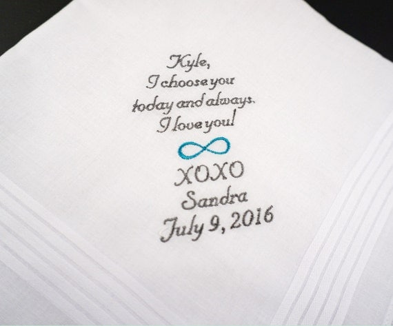 Groom, Future Husband, Fiance, Hubby Gift. Customized Handkerchief. I ...