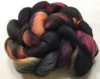 Corriedale, 4.4oz, Wool, Roving, Top, Hand dyed, Felting, Fiber, C118