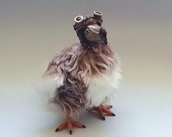 Steampunk Dodo Bird. Art Doll. Completely handmade. (art.no 3)