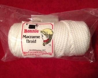 White Bonnie Macrame Braid 100 yards
