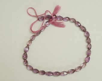 Rose Amethyst Faceted Oval 43ct