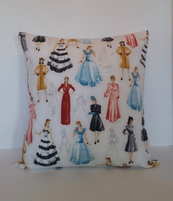 Vintage Throw Pillow Covers 18x18 : Throw Pillow Cover 18x18 Vintage Vogue by MichelleMarieTurner