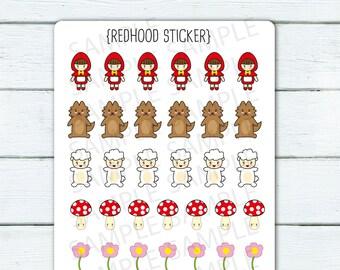 Redhood stickers-J394 -tiny minimes