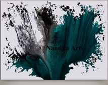 Original Painting Turquoise, Wall Art Abstract painting Home Decor, Modern Art Large Canvas Art Contemporary Art Hand Made Acrylic Painting
