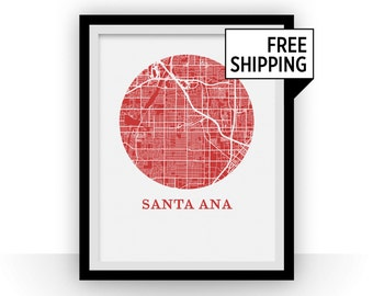 Santa Ana Map Print - City Map Poster