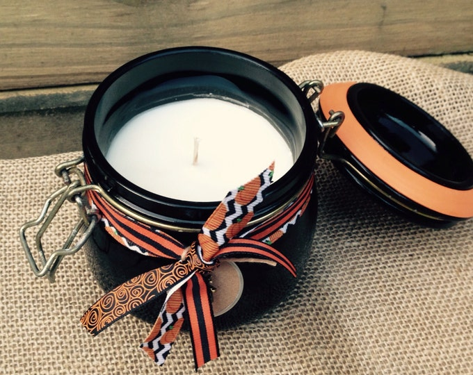 Pumpkin Spice Soy Candle Rustic Halloween Fall Decor
