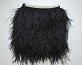 Black Feather Skirt