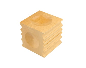 "Proops 2.5"" Wooden Dapping Block with Channel Groove, Doming, Forming (J1354). Free UK Postage"