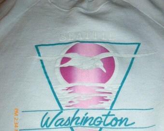 Seattle Washington Tourist Sweatshirt Size XL 80s 90s
