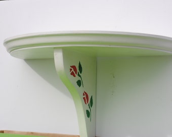 Hand Painted Shelf with Roses