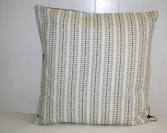 Black Decorative Throw Pillow, Nate Berkus Cole Striped Paramount Pillow Cover, Throw Pillow