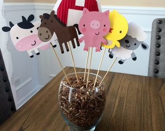 Farm Animals Centerpieces or cake toppers, Farm/Farm Theme Party