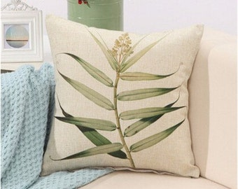Tropical print collection- Palm leaf Cushion cover