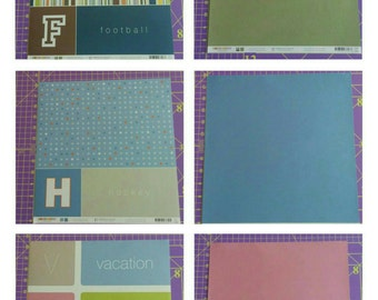 American Crafts 12x12 patterned paper collection