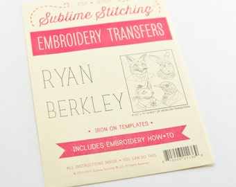 Embroidery Transfer - Sublime Stitching Ryan Berkley Animals Pattern - Animal Embroidery - Animals in Clothing Iron On Transfer Template