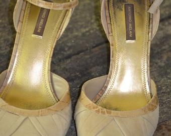 Vintage Heeled Summer Dress Shoe Size 8 1/2
