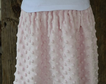 Pink Minky Dot Skirt ONLY 3 AVAILABLE Two Size 3t and One Size 5t