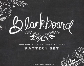 Blackboard Digital paper Set, INSTANT DOWNLOAD