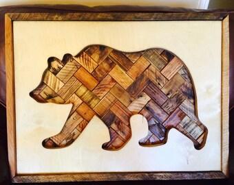 Pallet Wood Bear